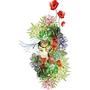 DULCE'S CANDIDE TEE UNISEX OPEN NECK (FLOWERS)